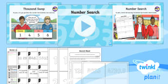 PlanIt Y4 Number and Place Value Lesson Pack Different Representations (2) - expanded form, numerical form, standard form, numicon, dienes, singapore maths, shanghai maths, bar