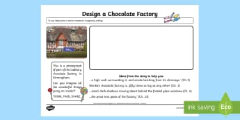 Design Your Own Factory Activity to Support Teaching on Charlie and the Chocolate Factory
