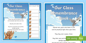Our Class Remembrance Book - month of the holy souls, remembrance, all souls' day, november prayers, prayers for special intenti