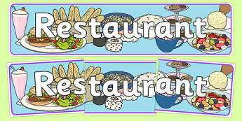 Restaurant Role Play Display Banner - food, roleplay, props