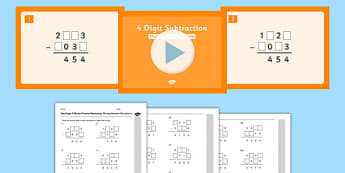 KS2 Reasoning Test Practice Missing Number Calculations 4-Digit Subtraction Resource Pack - Key Stage 2, KS2, Reasoning, Test, Practise, Missing Number, Subtraction
