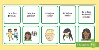 Emoții Cartonașe - dezvoltare socială, dezvoltare personală,inteligență emoțională, jocuri cu emoții, activită