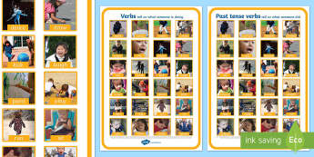Verbs Photo Display Poster A4 - verbs, grammar, literacy, display