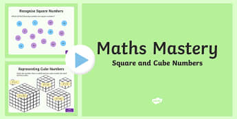 Year 5 Multiplication and Division, Square and Cube Numbers Maths Mastery PowerPoint