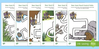 Pencil Control Path Activity Sheets