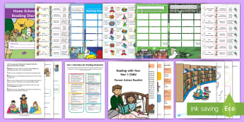 Year 1 Reading At Home Resource Pack - Y1, Comprehension, Understanding, Reading Dogs, Parents, Questioning, home school links