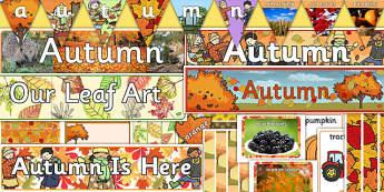 Autumn Classroom Displays - autumn, display, autumn display, seasons, seasons display, display pack, classroom display, topic display, pack, autumn pack