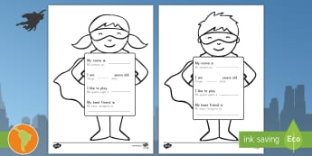 All About Me Superhero Writing Template US English/Spanish (Latin) - eal, español, Ourselves, family, Ks1, Y1, Year 1, EYFS, Reception, Growing, growth,  elementary, su