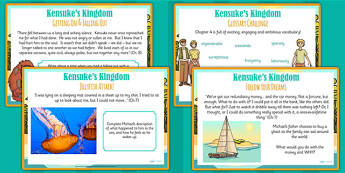Kensuke's Kingdom Challenge Posters - story book, stories, display