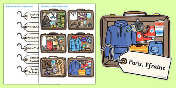 Packing For Weather Around The World Activity Welsh Translation