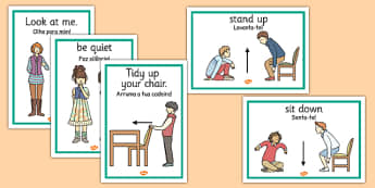 Classroom Instructions Display Posters Portuguese Translation - portuguese, classroom, instructions, display, posters