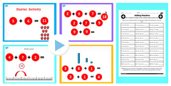 Year 2 Adding 3 1 Digit Numbers Lesson 3 Lesson Teaching Pack