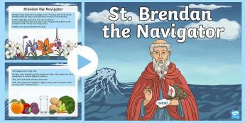 Saint Brendan the Navigator PowerPoint-Irish