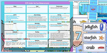 EYFS Under the Sea Enhancement Ideas and Resources Pack - sea