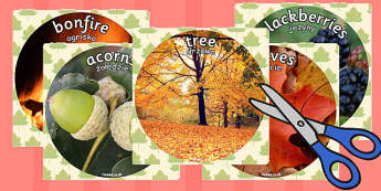 Autumn Display Photo Cut Outs Polish Translation - polish, autumn, display
