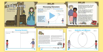 Lady Lucy: Reading for Writing Resource Pack - Year 2, Comprehension, Story, Prediction, Victorians, toys, Y2, KS1, story writing,