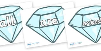Tricky Words on Diamonds - Tricky words, DfES Letters and Sounds, Letters and sounds, display, words