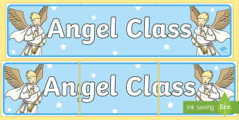 Angel Themed Classroom Display Banner - Themed banner, banner, display banner, Classroom labels, Area labels, Poster, Display, Areas