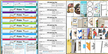 EYFS Pirate Themed Lesson Plan Enhancement Ideas and Resources Pack