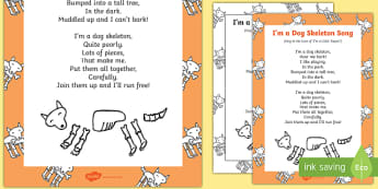 I'm a Dog Skeleton Song