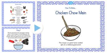 Chicken Chow Mein Recipe PowerPoint - recipe, chicken chow mein
