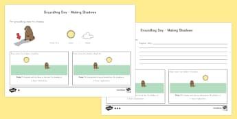 Groundhog Day Making Shadows Activity Sheets - Groundhog day, worksheets, shadows, groundhog
