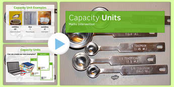 Maths Intervention Capacity Unit PowerPoint - SEN, special needs, intervention, maths, measure, capacity