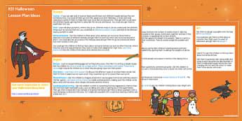 Halloween Lesson Plan Ideas KS1- halloween, halloween lessons, KS1 lesson plan, KS1 halloween, halloween lessons, lesson plans, lesson ideas