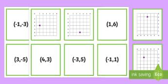 Four Quadrants Match Up Cards - four, four quadrants, quadrants, maths, mathematics, numeracy, coordinates