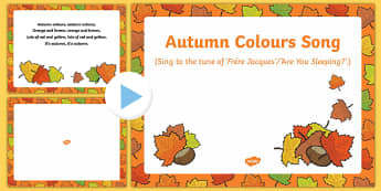 Autumn Colours Song PowerPoint