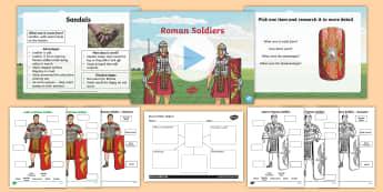 Roman Soldier Task Setter Lesson Pack - romans, ks2 history, roman empire