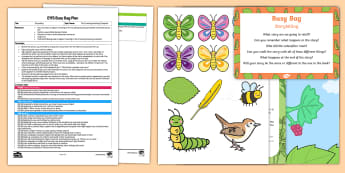 EYFS Storytelling  Busy Bag Plan and Resource Pack - The Crunching Munching Caterpillar, Sheridan Cain, life cycle of a butterfly, re-tell, retell, recou