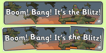 Boom Bang It's the Blitz Display Banner - boom, bang, blitz, display banner, display, banner