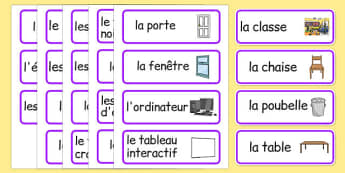 Classroom Word Cards French - french, classroom, word cards, word, cards