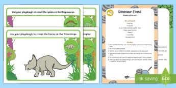Dinosaurs Playdough Recipe and Mat Pack - Dinosaurs, reptiles, sensory, exploration, malleable, fine motor