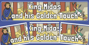 King Midas and His Golden Touch Display Banner - king midas