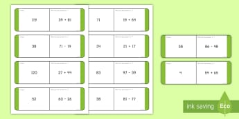 Double Digit Addition and Subtraction Loop Cards - 2 digit, 2-digit, problem solving, i have who has, common core, numbers, base ten, operations and al