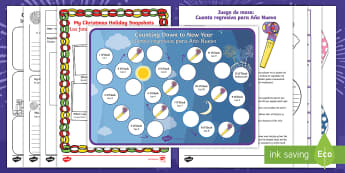 New Year's Resolution Resource Pack English/Spanish -  new year, happy new year, new years resoulution, NEW YAR, new year, EAL