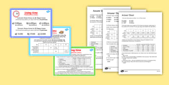 Using Time Maths Challenge Cards English/Polish - Using Time Maths Challenge Cards - time, clocks, maths, numeracy, challange, numracy, Timw, matsh,Po