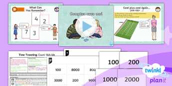 PlanIt - French Year 5 - Time Travelling Lesson 1: Count With Me Lesson Pack - french, languages, maths, counting, calculation, number operation