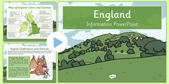 England Information Powerpoint - English, geography, UK, Britain, British, local, knowledge