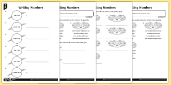 Numerals and Words Differentiated Activity Sheets - Number and Place Value, problem solving, maths mastery, year 3, fun maths, reading and writing numbe