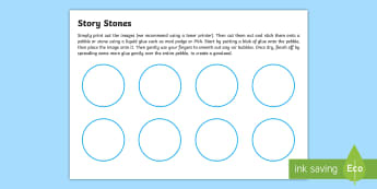 Blank Editable Template Story Stones Cut-Outs - Blank Editable Template Story Stones Cut-Outs - EYFS, Early Years Planning, Adult Led, topic plan, T