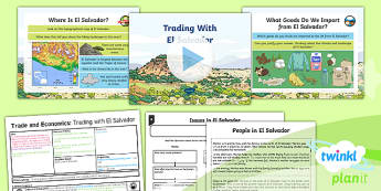 Geography: Trade and Economics: Trading With El Salvador Year 6 Lesson Pack 3
