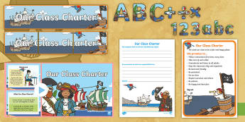 Our Class Charter Pirate-Themed Resource Pack - Our, Class, Charter, Pirate, Themed, Resource, Pack, Classroom, Management, Behaviour, KS1
