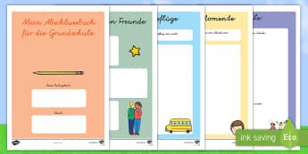 Mein Abschlussbuch für die Grundschule Mini-Buch - Abschlussbuch Grundschule, Minibuch, Büchlein, Freundebuch, Schuljahresende, Grundschule, Sommerfer