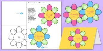 Tarjeta de regalo - El día de la madre - calendario, mamá, fiestas, regalos