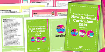 2014 Curriculum Cards Year 5 Core And Foundation Subjects