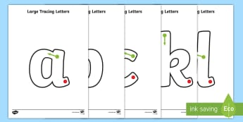 Large A-Z Tracing Letters - tracing letters, handwriting, letter formation, writing practice, foundation, letters, writing, learning to write, DFES letters and sounds, printable