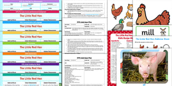 EYFS The Little Red Hen Lesson Plan Enhancement Ideas and Resources Pack - Early Years, continuous provision, early years planning, traditional stories